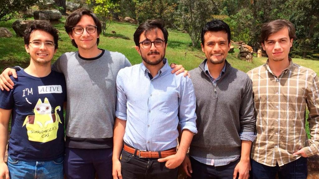 De izquierda a derecha, Sebastián Murgueitio, Camilo Martínez, Alejandro Vesga, Felipe Romero  y Oscar Andrés Piedrahita.