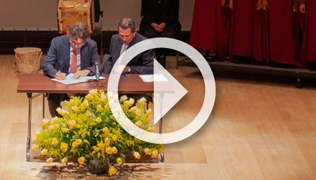 Alejandro Gaviria se posesionó como el nuevo rector de la Universidad de los Andes.