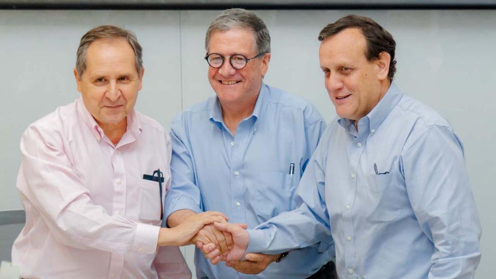 Rectores de las tres universidades aliadas en La Tríada