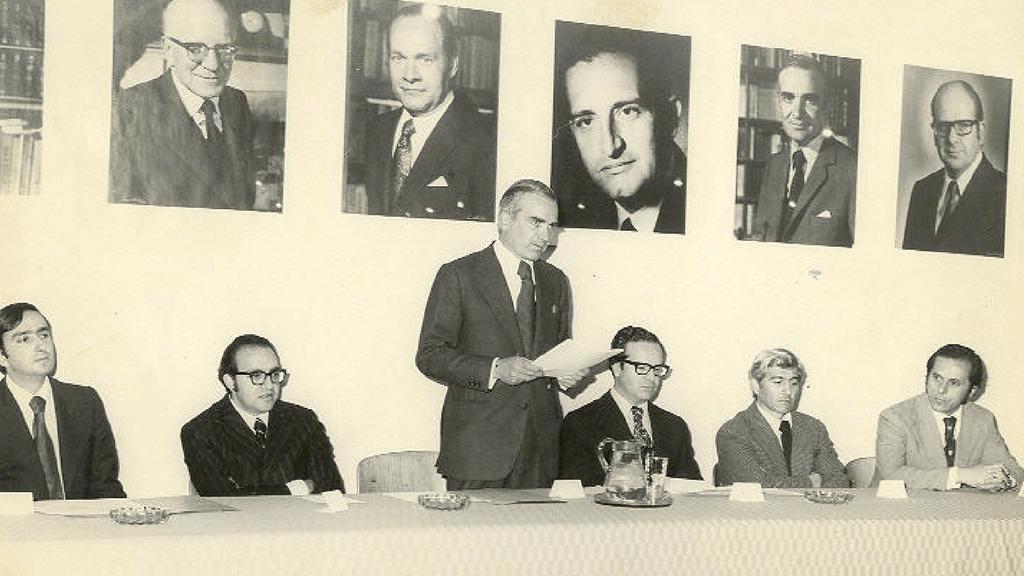 Francisco Pizano de Brigard durante su periodo como rector de la Universidad de los Andes