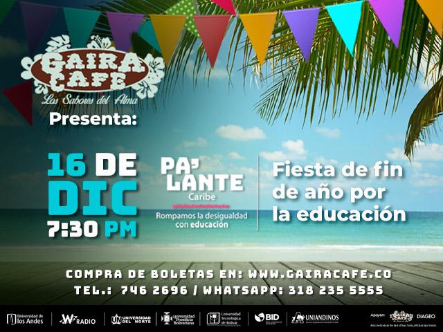 Fiesta en Gaira Café por Pa'lante Caribe