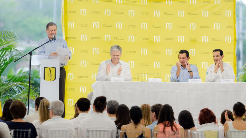 Opening ceremony of the Universidad de los Andes Caribbean campus in Cartagena on May 10, 2018.