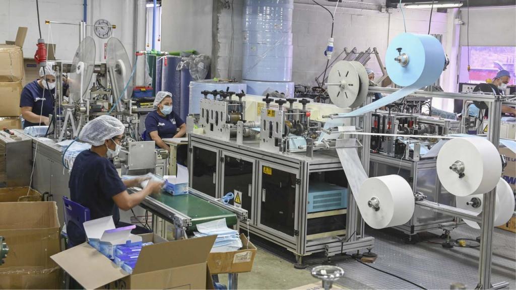 Foto de una industria textil