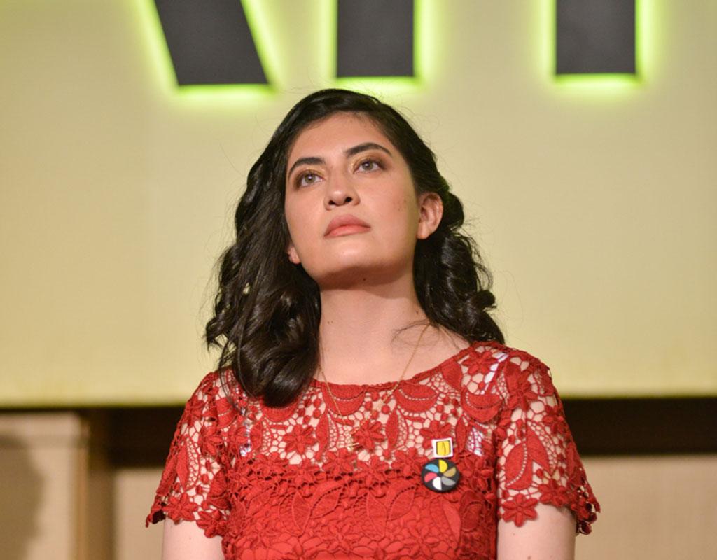 Ana María Cárdenas Gasca recibió la distinción ´Summa cum Laude´ en la ceremonia de grados de pregrado 2018-1.