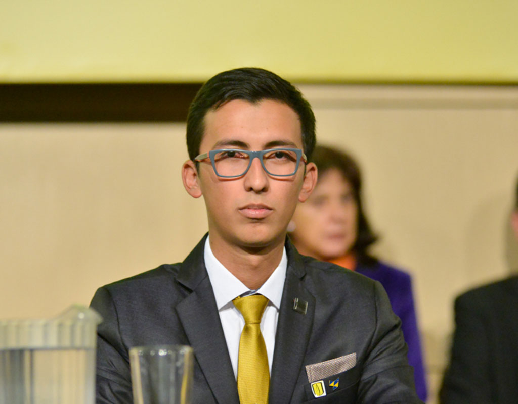 Sergio Yodeb Velásquez Yepes ganador de la distinción a la Responsabilidad Social Universitaria 2018-1.