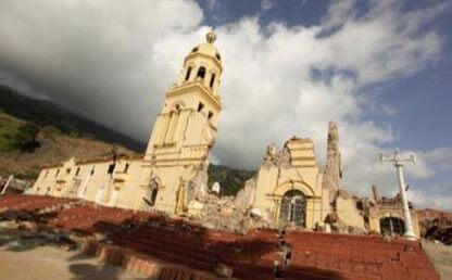 Iglesia de Gramalote, en ruinas