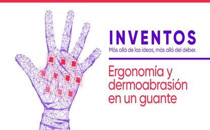 Ilustración de guante con vectores tecnológicos