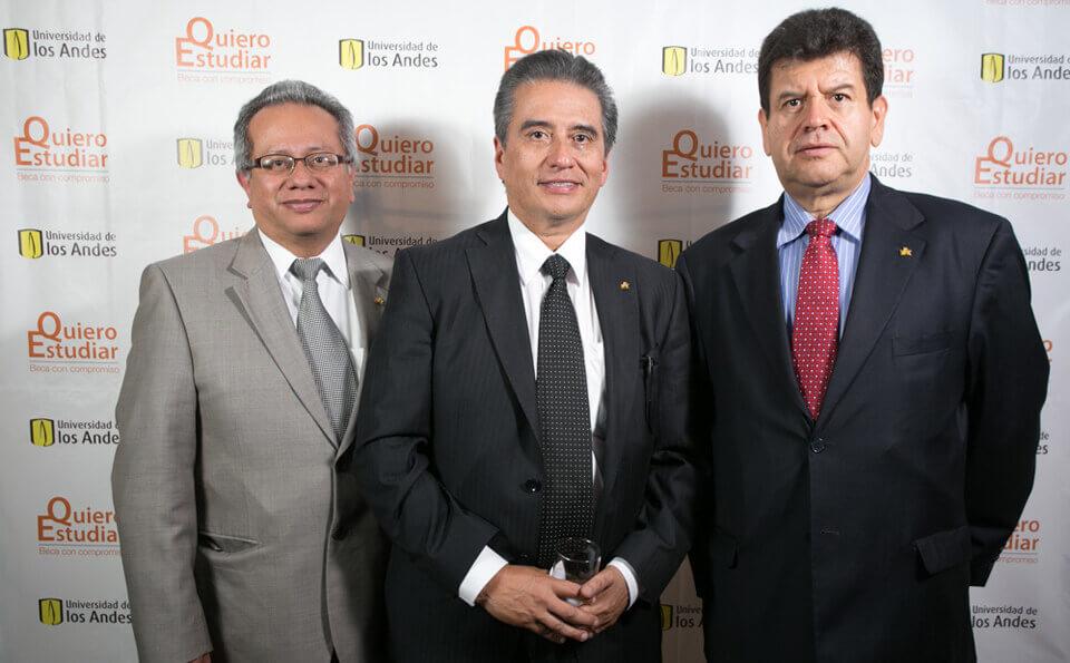 Héctor Pablo Bermúdez, Carlos Mosquera y Manuel Fernando Cortés