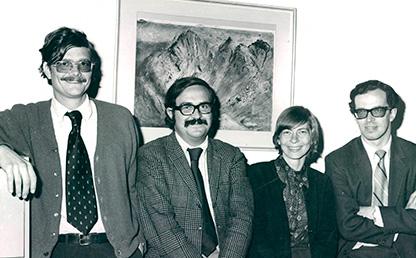 Profesores Paul Oquist, Gabriel Murillo, Dora Röthlisberger y Rodrigo Losada.