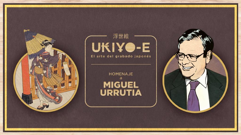 A un lado la imagen de una estampilla japonesa y al otro lado la imagen del economista Miguel Urrutia.
