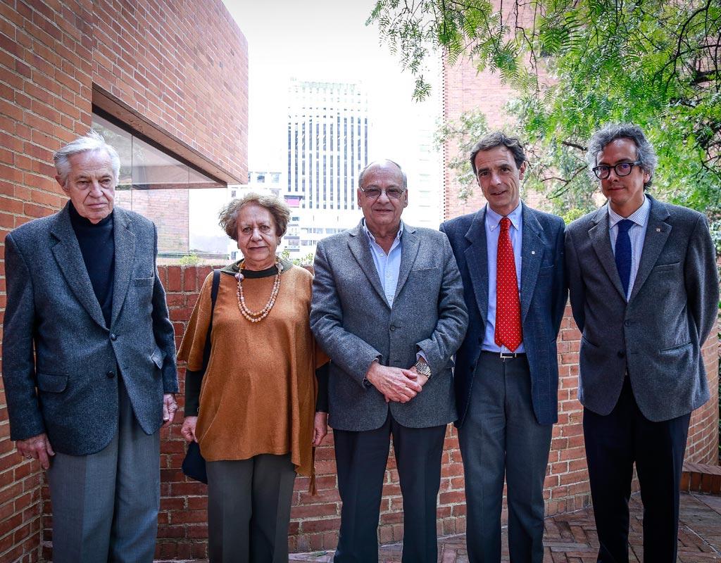 Retrato de cinco de los arquitectos homenajeados