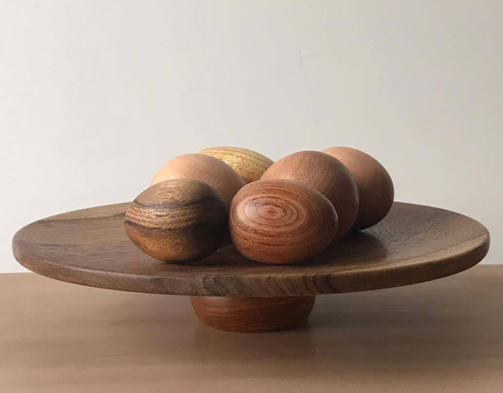 El arte basado en redondear la madera.