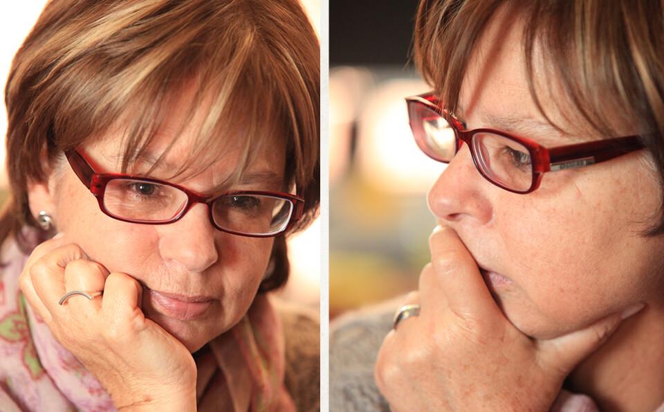 foto dividida donde se ve el rostro de una mujer en ambos lados