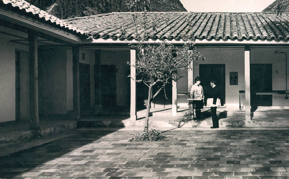 Imagen antigua del campus de la Universidad de los Andes