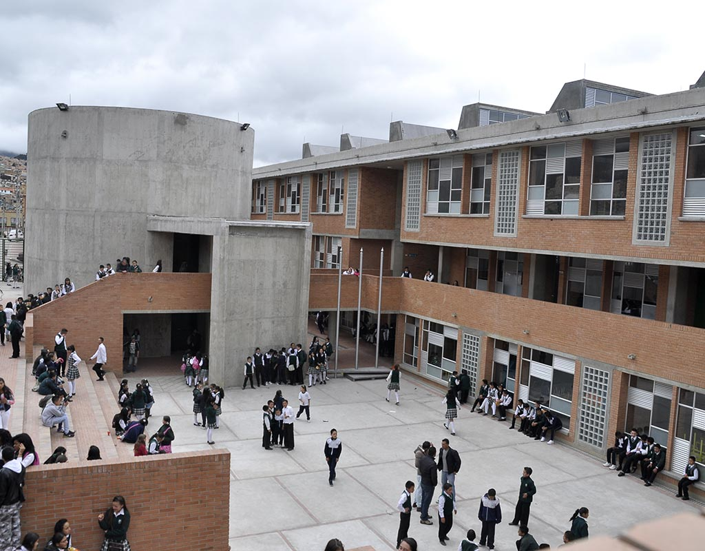 Estudiantes en el colegio distrital Gran Yomasa 8. Cortesía: Secretaría de Educación del Distrito (SED)