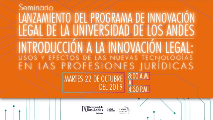 Imagen promocional evento innovación legal