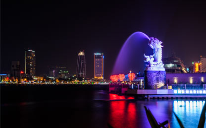 Foto nocturna de Pekín, China. Foto: NGO TUNG On Unplash
