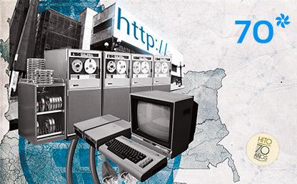 Equipos y computadoras de los años 90.