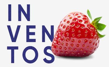 Ilustración de una fresa y la palabra Inventos