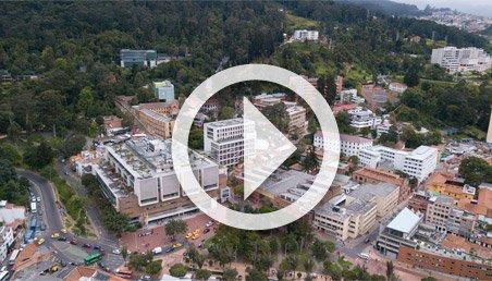 Imagen aérea del campus dela Universidad de los Andes