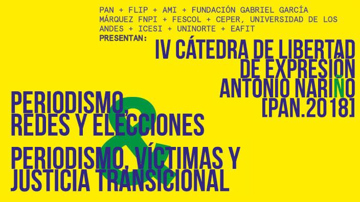 IV Cátedra de Libertad de Expresión Antonio Nariño 2018