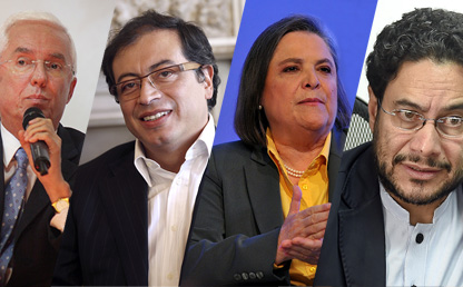 Imagen de líderes de izquierda en Colombia