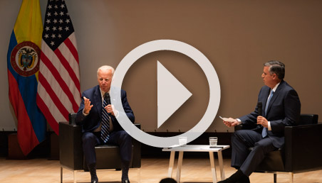 Joe Biden's talk at the Universidad de los Andes
