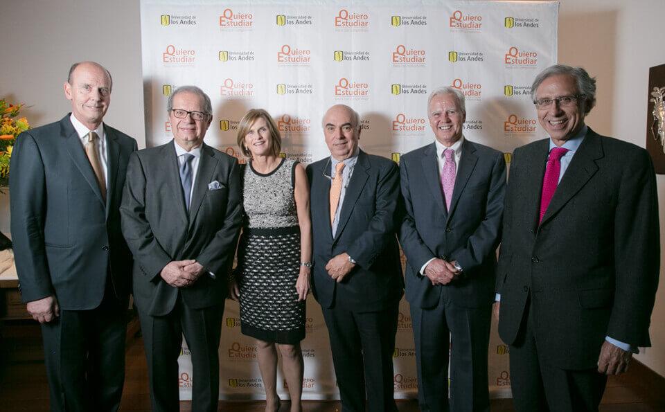 José Jesús Robledo, Sergio Uribe, Lina Robledo, Tulio Ángel, Felipe Samper y Armando Vegalara