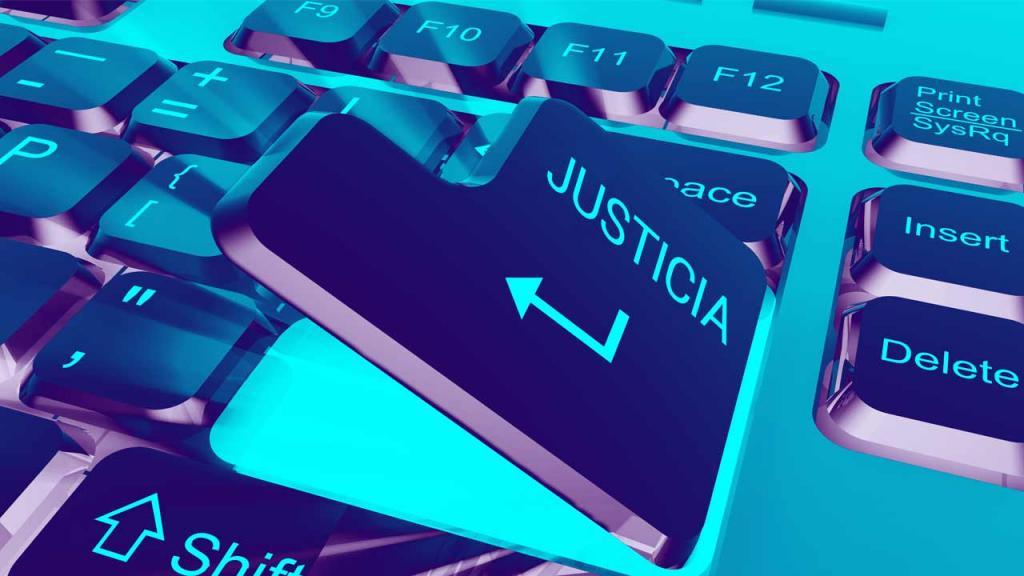 Tecla Enter con la palabra Justicia