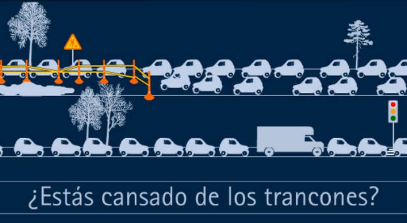 dibujo de carros en trancon