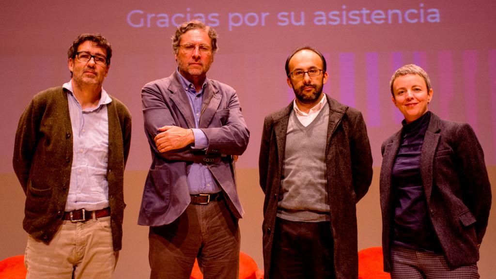 Mauricio Nieto y Juan Pablo Aranguren, Rafael Sagredo y Mariana Gabarrot.