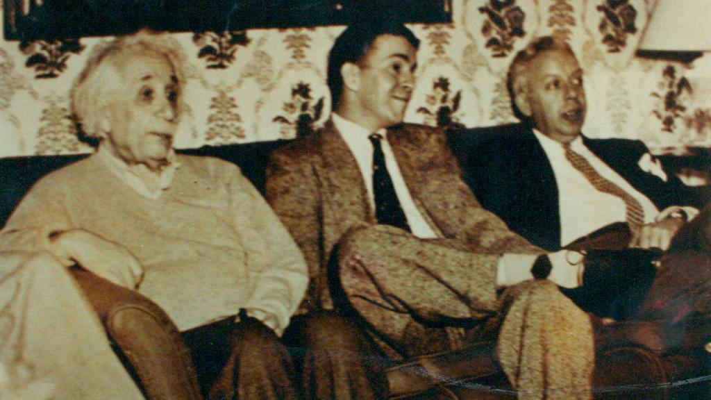 Albert Einstein y Mario Laserna, Universidad de Princeton.