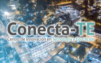 Foto del campus con el logo de Conecta-TE