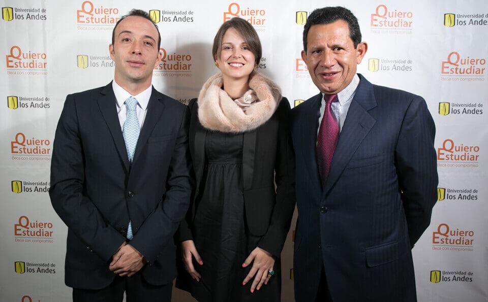 Lucas Osorio, Carolina Rivera y Eduardo Pacheco