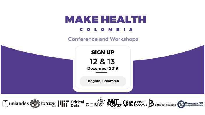 Imagen promocional del evento Make Health Colombia