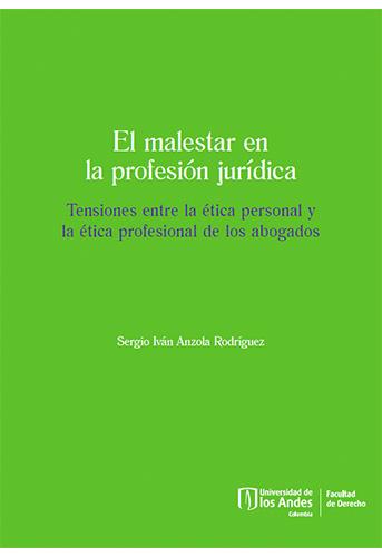 Portada del libro El malestar en la profesión jurídica