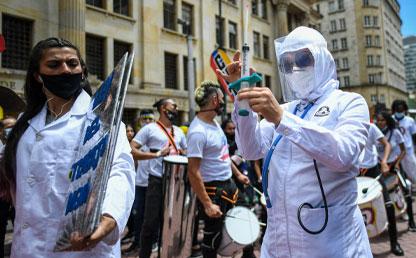 Foto de marchas por la reforma de salud