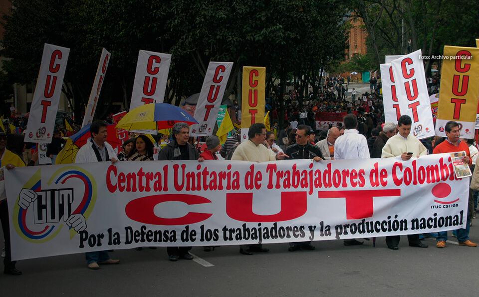 Marcha de sindicato de trabajadores