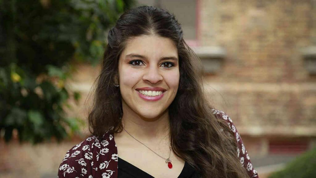 María Andrea González, elegida por Portafolio como la mejor estudiante del 2017.