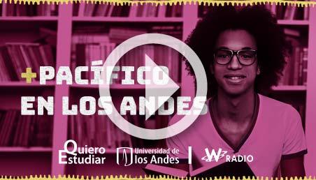 Afiche de un joven afrodescendiente para la campaña Pa'lante Pacífico