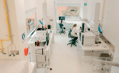 Image of the metabolomics laboratory