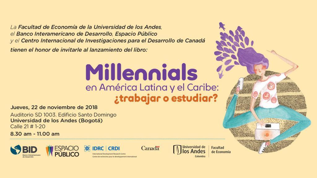 Gráfico invitación evento Millennials en América Latina