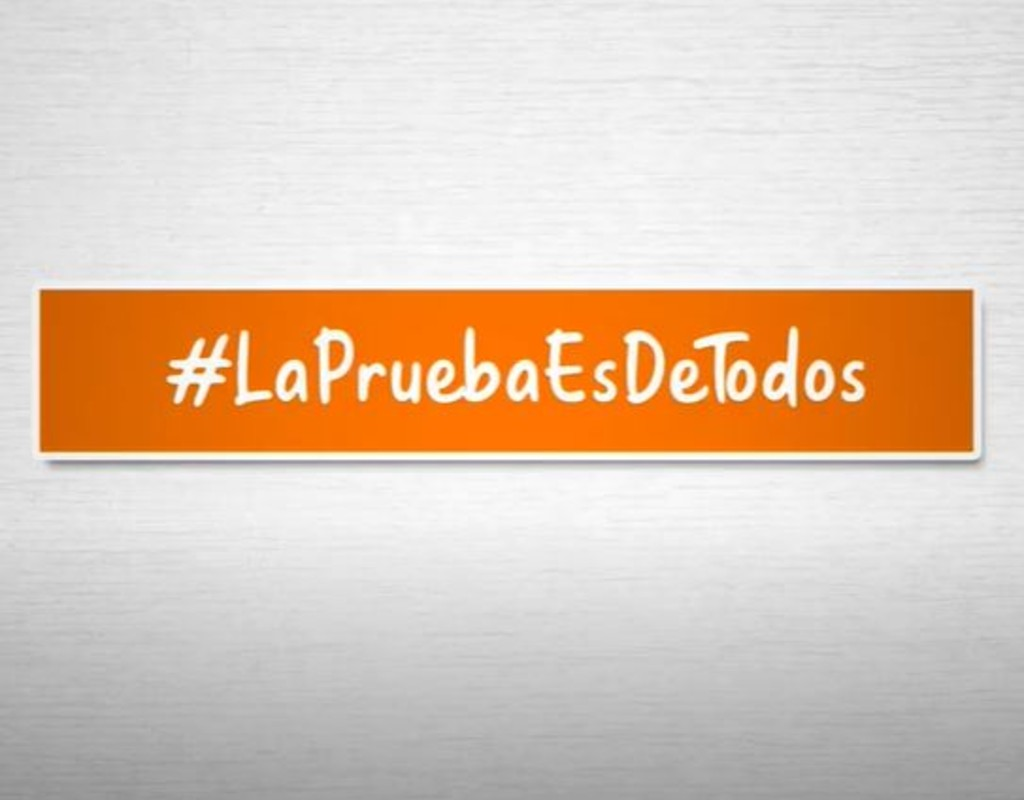 Texto #LaPruebaEsDeTodos