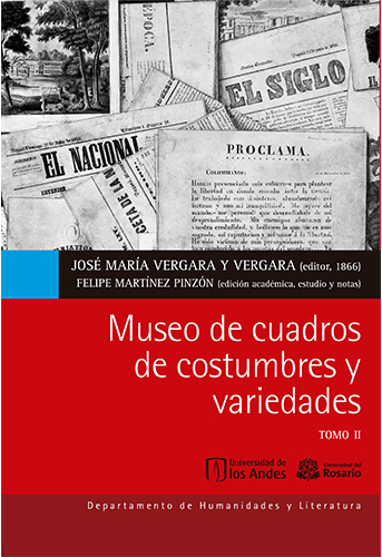 Cubierta del libro Museo de cuadros de costumbres y variedades. Tomo II