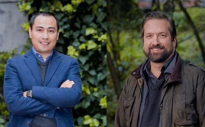 Foto de los profesores Hernando Bayona y Jorge Baxter.