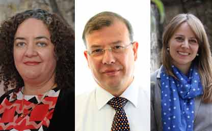 Juny Montoya, Carolyn Finck Barboza, Eduardo Zorro