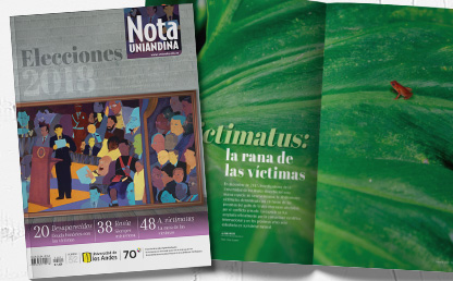 Montaje de la portada y una de las publicaciones de Nota Uniandina edición 52.