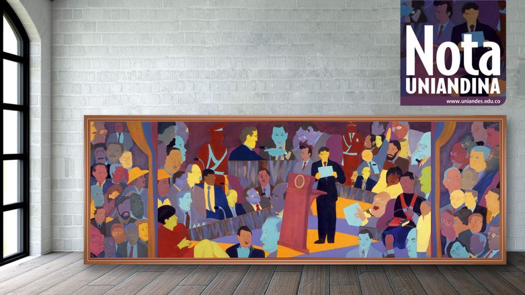 Imagen del cuadro La Constituyente, obra de Beatriz González.