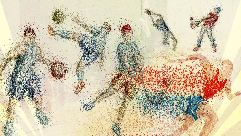 Ilustración de diferentes deportistas