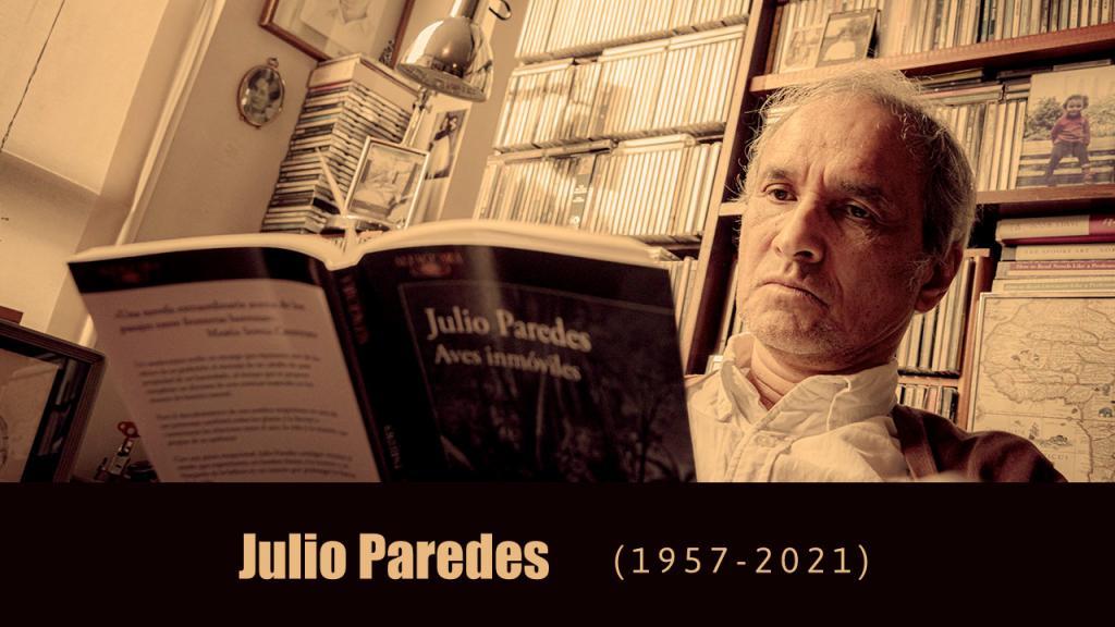 Julio Paredes, escritor, cuentista y novelista.